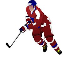 Ice hockey player Photographic Print