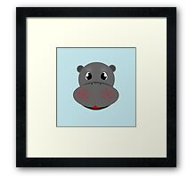 Happy Little Hippo! Framed Print