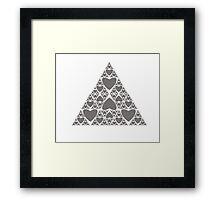 Heart Sierpinski Triangle Framed Print