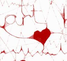Heartbeat I love you – artwork by Penny v-p Sticker