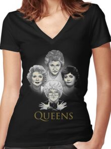 Golden Queens Women's Fitted V-Neck T-Shirt
