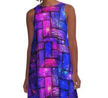 Galaxy Brick Pattern A-Line Dress