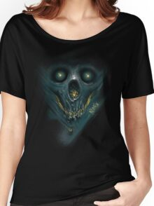 "INSAMNIA's ""blue skull"" Women's Relaxed Fit T-Shirt"