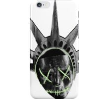 THE PURGE: liberty MASK BW iPhone Case/Skin