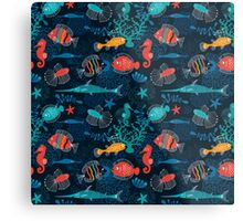 Tropical Fish Under the Sea Metal Print