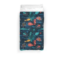 Tropical Fish Under the Sea Duvet Cover