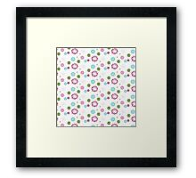 Modern Chic Floral Pattern Framed Print