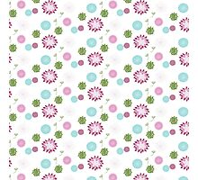 Modern Chic Floral Pattern Photographic Print