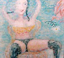 woman and bird by danielgomez