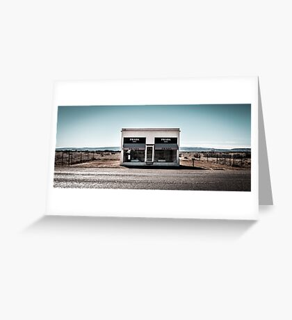 Prada, Marfa, TX Greeting Card
