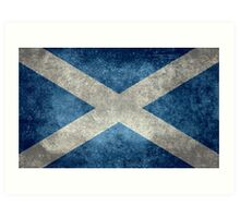 National flag of Scotland - Vintage version Art Print