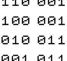 Binary... i can't read it! Sticker