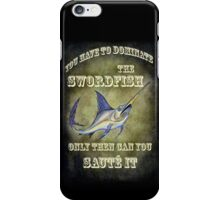 Slaming Sammy the Swordfish iPhone Case/Skin