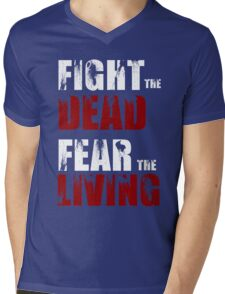 Fight The Dead/Fear The Living - The Walking Dead Mens V-Neck T-Shirt