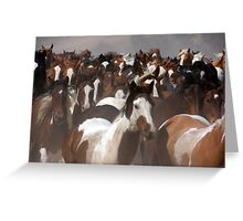 Horses On The Move Greeting Card