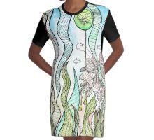 Dino world Graphic T-Shirt Dress