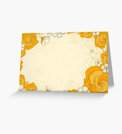 invitation card with yellow flowers Greeting Card