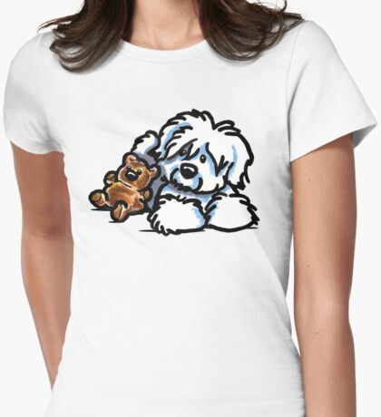 Coton Teddy Bear Womens Fitted T-Shirt