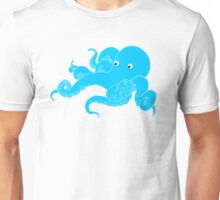Octopus Bold Yellow Stripes Unisex T-Shirt