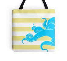Octopus Bold Yellow Stripes Tote Bag