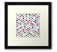Modern Chic Large Polka Dots Framed Print