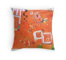 a diary page Throw Pillow