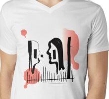 The kissers illustration longing for color Mens V-Neck T-Shirt