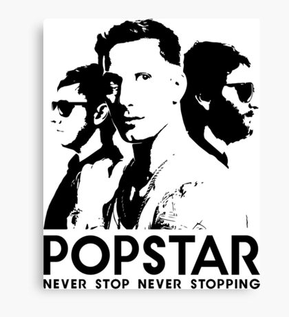 Popstar - Never Stop Never Stopping Version One Canvas Print