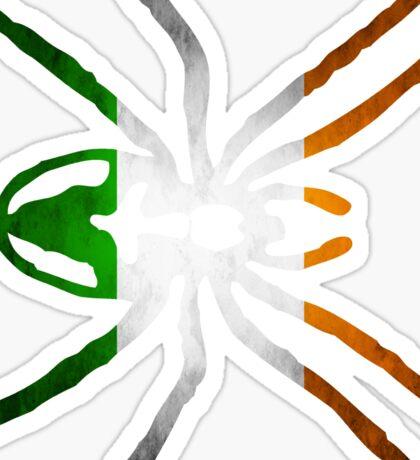 IRELAND SPIDER FLAG  Sticker