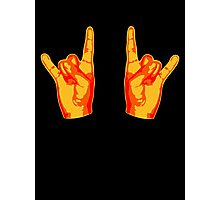 2 Cool Metal Hand Finger Photographic Print