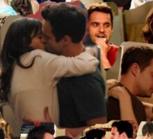 nick and jess- new girl photo collage Sticker