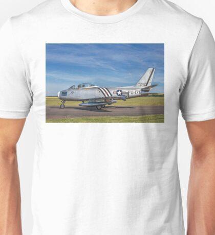 North American F-86A Sabre 48-178 G-SABR Unisex T-Shirt