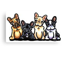 Fantastic Four Frenchies Canvas Print