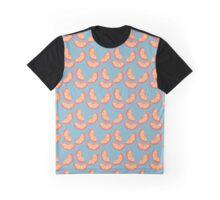 Summer Blue Grapefruit Pattern Graphic T-Shirt