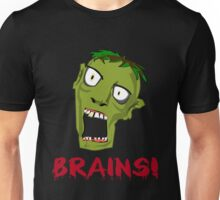 Crazy Green Zombie Needs Brains Unisex T-Shirt