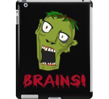 Crazy Green Zombie Needs Brains iPad Case/Skin