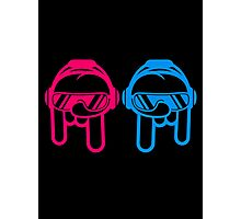 2 Cool Metal Finger Hand Party DJs Photographic Print