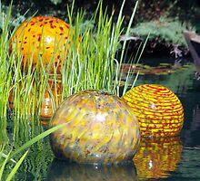 Yellow Glass Orbs by photosbydeniece