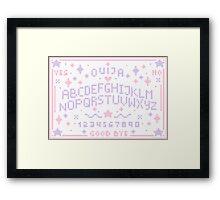 Pixel Ouija Board Framed Print