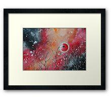 Crimson Owl Nights Framed Print