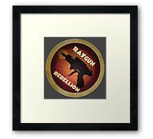 Logo - Vintage Scifi Raygun Framed Print