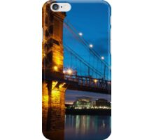 John A. Roebling Suspension Bridge at Dusk iPhone Case/Skin