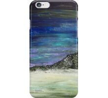 Arctic sunset (blue) iPhone Case/Skin