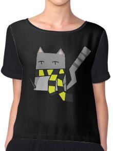 Hufflepuff Kitty Chiffon Top