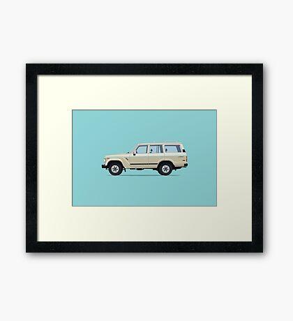 Toyota Land Cruiser FJ61 Framed Print