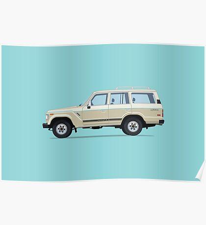 Toyota Land Cruiser FJ61 Poster
