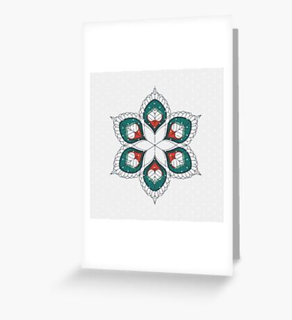 White Hearts Greeting Card