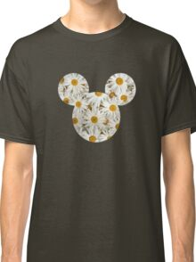 Mouse Daisy Patterned Silhouette Classic T-Shirt
