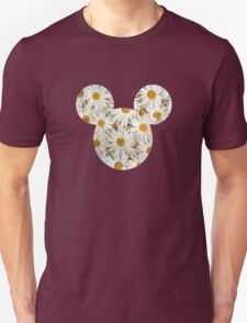 Mouse Daisy Patterned Silhouette Unisex T-Shirt