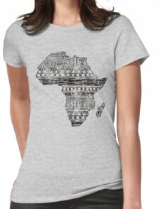 Patterned Map of Africa  Womens Fitted T-Shirt